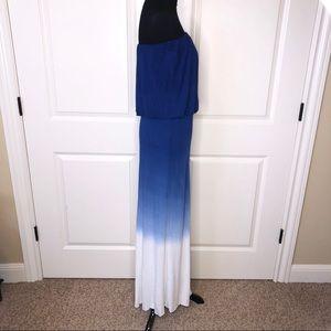Young Fabulous & Broke Dresses - Young Fabulous & Broke Strapless Ombré Maxi Dress